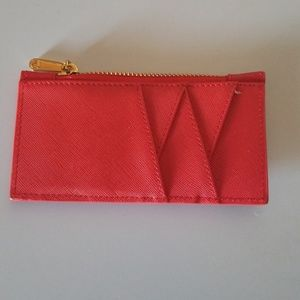 Handbags - Red multi card wallet
